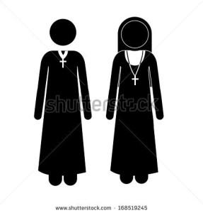 padre + freira